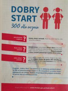 Dobry Start – 300 zł dla ucznia